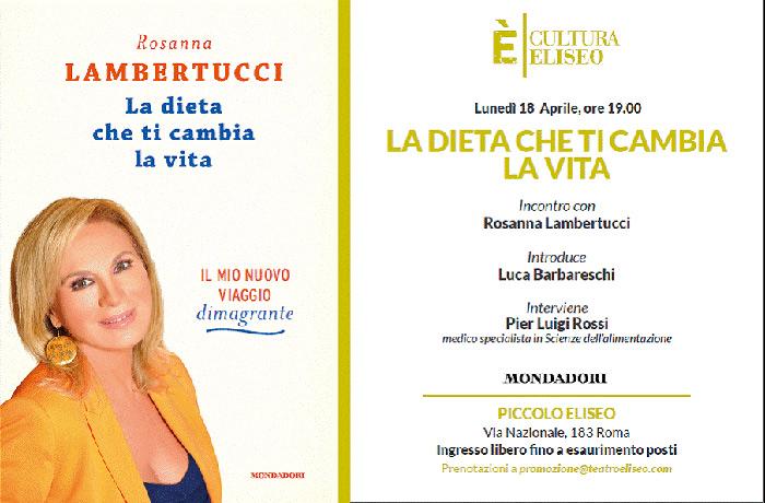 Dieta Lambertucci – il programma alimentare di Rosanna Lambertucci