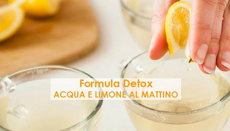 acqua e limone detox