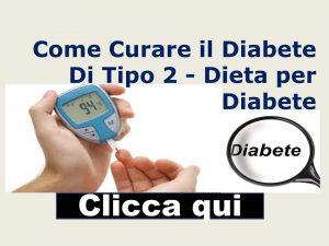 Dieta per diabetici tipo 2